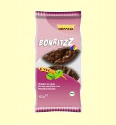 Galetes d'Arròs Recobertes amb Xocolata i Garrofa Bio - Bonvita - 100 grams