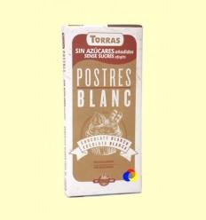 Postres: xocolata blanca per fondre sense Sucre - Torras - 200 grams