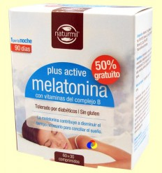 Melatonina Plus Active - Naturmil - 60 + 30 comprimits
