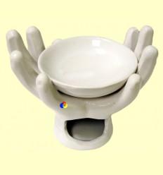 Cremador Olis Essencials Ceràmica Forma Mà Blanca - Signes Grimalt