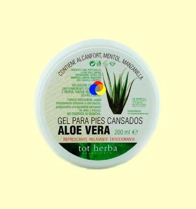 Gel cutani Peus Cansats d'Aloe Vera - Tot Herba - 200 ml