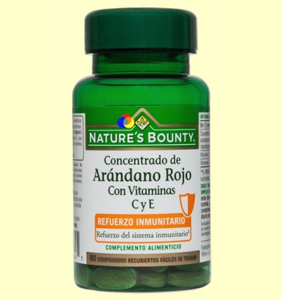 Concentrat de Nabiu Vermell Amb Vitamines C i E - Nature 's Bounty - 60 comprimits