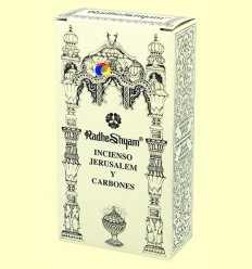 Encens Jerusalem i Carbons - Radhe Shyam - 50 g + 10 unitats