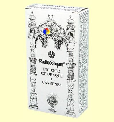 Encens Estoraque i Carbons - Radhe Shyam - 50 g + 10 unitats