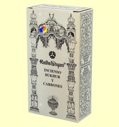 Encens Bukhur i Carbons - Radhe Shyam - 50 g + 10 unitats