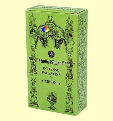 Encens Palestina i Carbons - Radhe Shyam - 50 g + 10 unitats