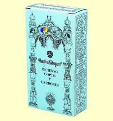 Encens Copte i Carbons - Radhe Shyam - 50 g + 10 unitats