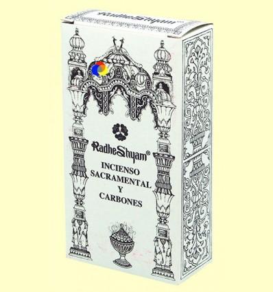Encens Sacramental i Carbons - Radhe Shyam - 50 g + 10 unitats