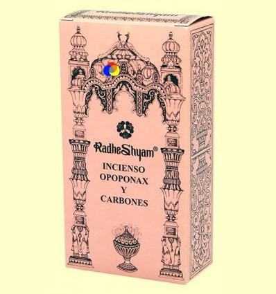 Encens opoponax i Carbons - Radhe Shyam - 50 g + 10 unitats