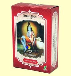 Henna Caoba Fosc Pols - Radhe Shyam - 100 grams