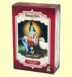 Henna Super Caoba Fosc Pols - Radhe Shyam - 100 grams