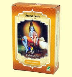 Henna Rubio Dorado Pols - Radhe Shyam - 100 grams