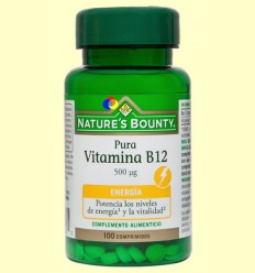 Pura Vitamina B12 500 gu - Nature's Bounty - 100 comprimits