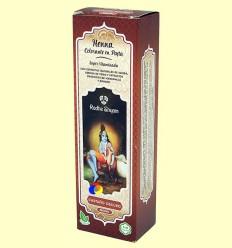 Henna Castaño Fosc Pasta - Radhe Shyam - 200 ml