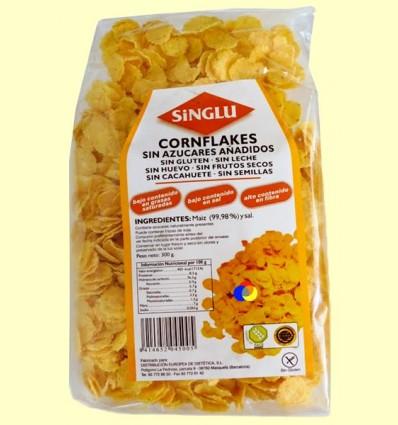 Cornflakes Sense Gluten - Flocs de blat de moro torrats ecològics - Singlu - 300 grams