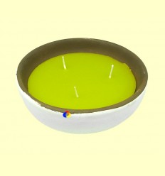 OFERTA-25% - Vela Citronela Bol Ceràmica Triple Metxa - Aromalia - 19 cm