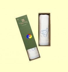 Manta de Cotó Orgànic Ecowrap Blau - The Dida Baby - 1 unitat