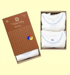 Pack Body Cotó Orgànic Oneise Blau - The Dida Baby - 2 unitats