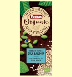 Xocolata negra amb soja torrada i quinoa inflada - Torras - 100 grams