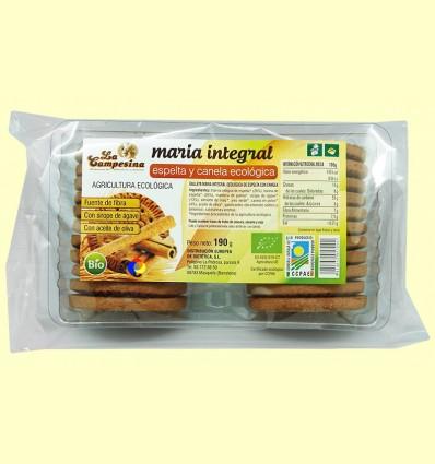 Galetes Maria Integrals Ecològiques d'Espelta amb Canyella - La Campesina - 190 grams