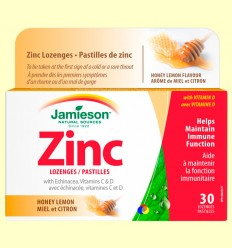 Zinc lozenges amb Equinàcia i Vitamines C i D - Jamieson - 30 comprimits