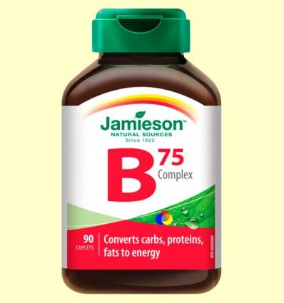 B Complex 75 mg - Complex Vitamina B - Jamieson - 90 comprimits