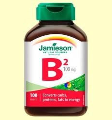 Vitamina B2 (Riboflavina) 100 mg - Jamieson - 100 comprimits