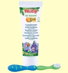 Pasta de Dents per a Nens Sabor Tutti Frutti + Raspall Dental - Nuby - 45 grams