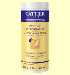 Pols absorbents desodorants per a Peus - Cattier - 65 grams