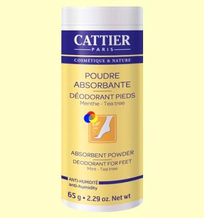 Pols absorbents desodorants per a Peus - Cattier - 65 grams