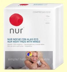 Compreses Nit amb Ales Eco - Nur - 12 unitats