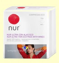 Compreses Ultrafines Ales Eco - Nur - 12 unitats