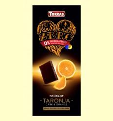 Xocolata Negre Zero Fondant Taronja - Torras - 125 grams