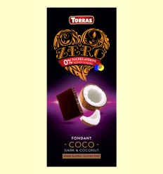 Xocolata Negre Zero Fondant Coco - Torras - 125 grams
