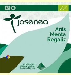 Infusió d'Anís, Menta i Regalèssia Bio - Josenea - 15 piràmides biodegradables