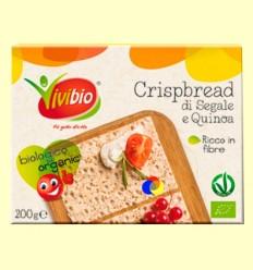 Pa cruixent de sègol integral i quinoa Bio - Vivibio - 200 grams *