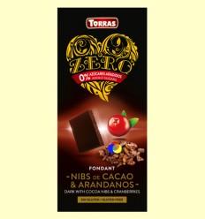 Xocolata Negre amb Nibs de Cacau i Nabius Zero - Torras - 125 grams
