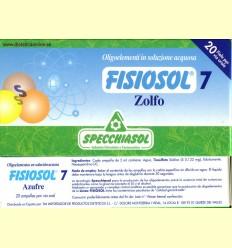 Fisiosol 7 Sofre (Zolfo) - Specchiasol - 20 ampolles