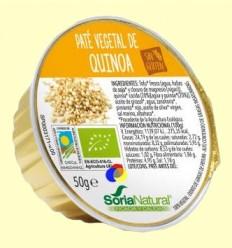 Paté Vegetal de Quinoa Bio - Soria Natural - 50 grams