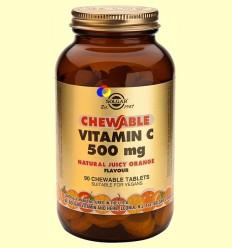 Vitamina C 500 mg - Sabor a taronja - Solgar - 90 comprimits masticables
