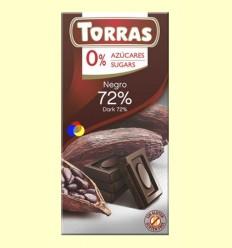 Xocolata Negre 72% Cacau - 0% Sucre - Torras - 75 grams