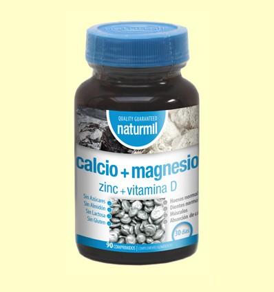 Calci + Magnesi + Zinc + Vitamina D - Naturmil - 90 comprimits