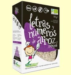 Lletres i Números d'Arròs Integral Bio - Soria Natural - 250 grams
