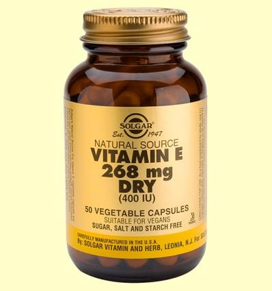 Vitamina E Seca 268 mg 400 UI - Solgar - 50 càpsules vegetals