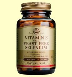 Vitamina E amb Seleni sense Llevat - Solgar - 50 càpsules vegetals