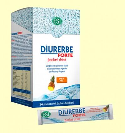 Diuerbe Forte Pocket Drink - Sabor Pinya - Laboratoris Esi - 24 sobres