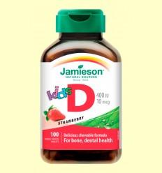Vitamina D Nens 400 IU / 10 mcg - Jamieson - 100 pastilles mastegables.