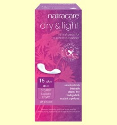 Compreses Dry & Light Bio - Incontinència Plus - Natracare - 16 unitats