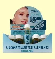Flash Tensor Facial Bio amb Col·lagen i Elastina - D'Shila - 20 x 10 ml
