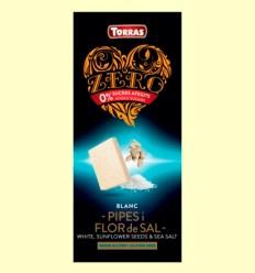Xocolata Blanca amb Llavors de Gira-sol Flor de Sal - Torras - 75 grams
